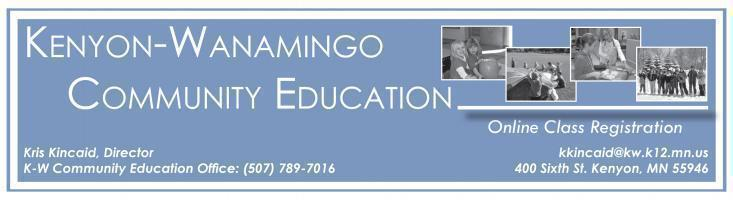 Kenyon-Wanamingo #2172 - rSchoolToday Class Registration v3.0